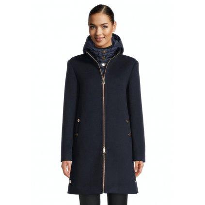 Dámsky modrý kabát s odnímateľnou vestou BETTY BARCLAY