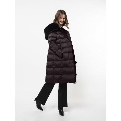Dámska tmavohnedá zimná bunda BEAUMONT