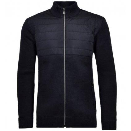 Pánsky modrý bundo-sveter RAGMAN