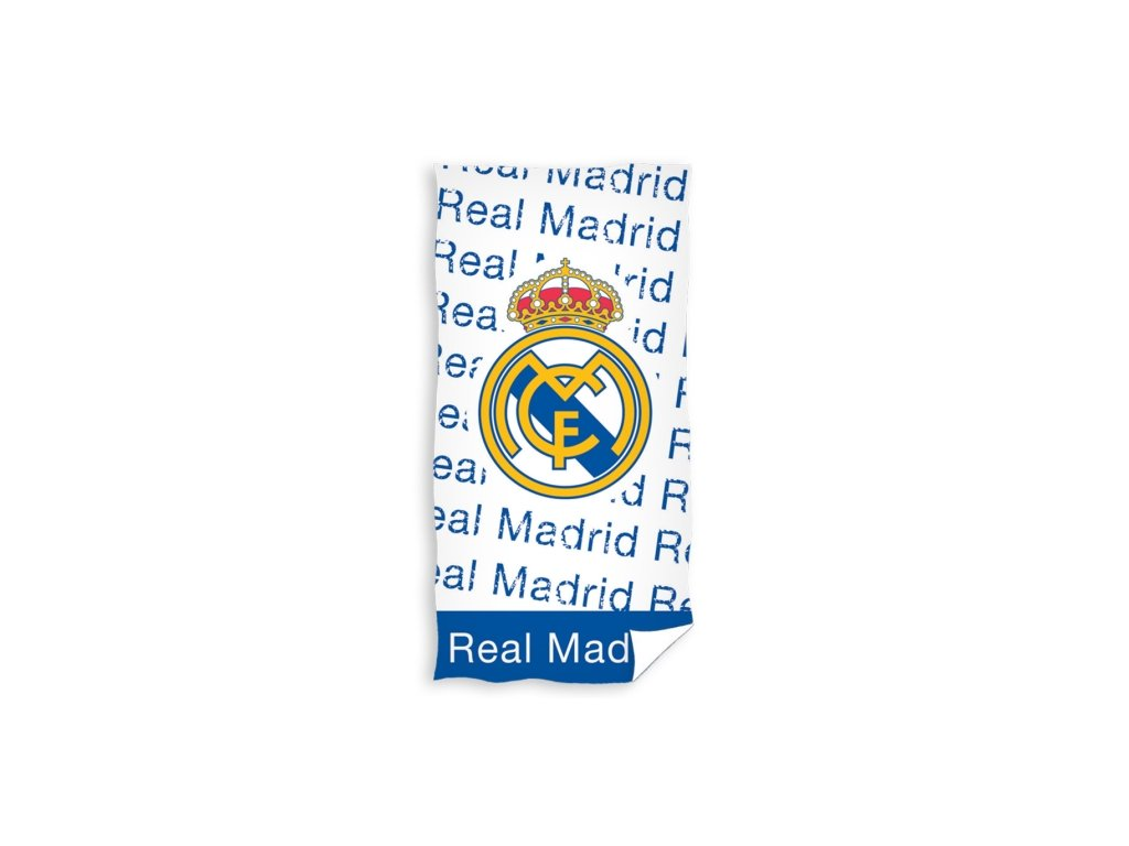 Osuška REAL MADRID nápis  150x75