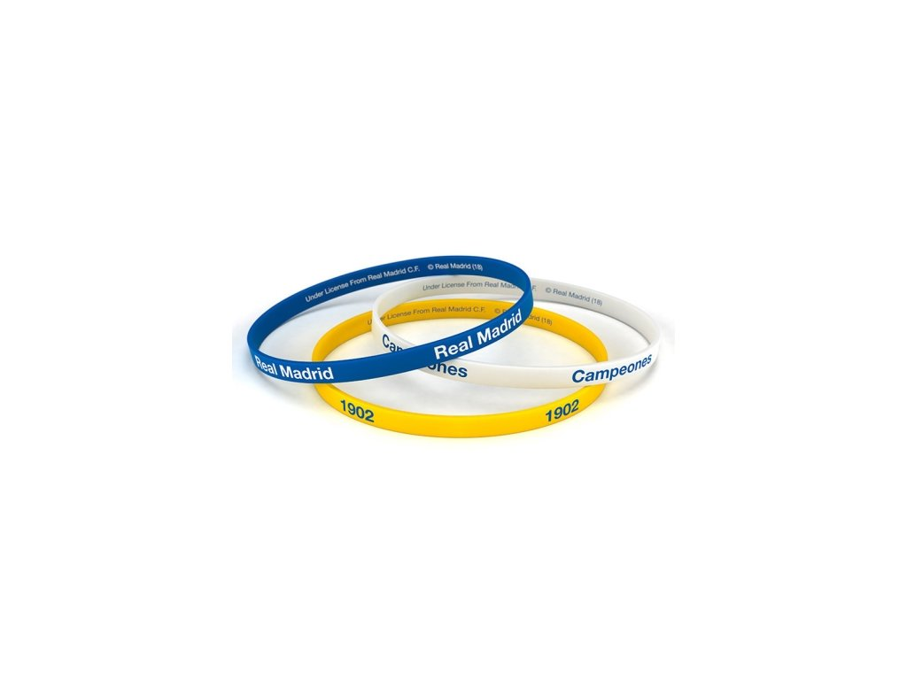 3pack náramek REAL MADRID colour