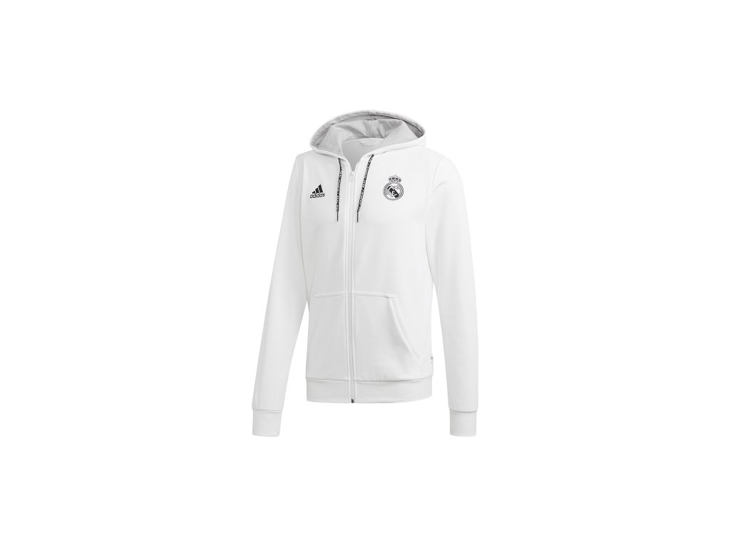 Mikina REAL MADRID 19 fullzip white