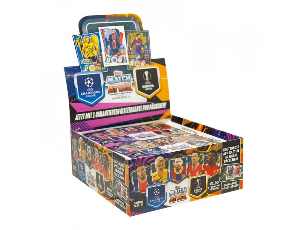topps champions league 2020 21 trading cards 1 display 30 booster