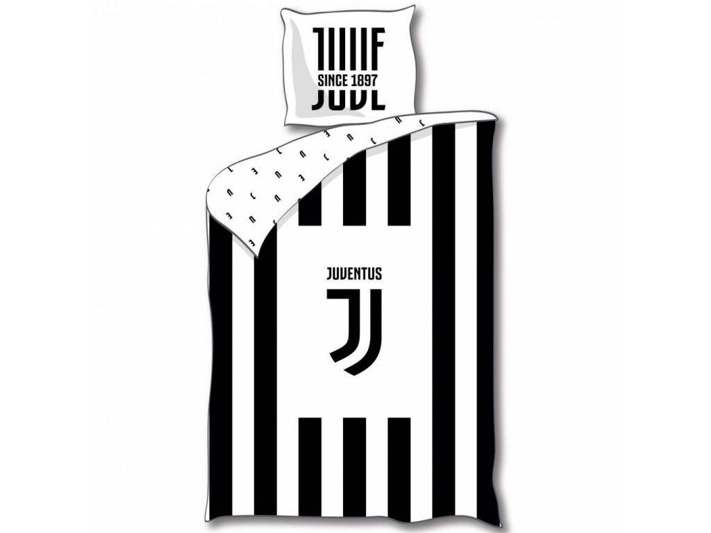juventus logo duvet cover single 140 x 200 cm blac