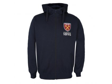 Mikina WEST HAM UNITED SLab zip navy