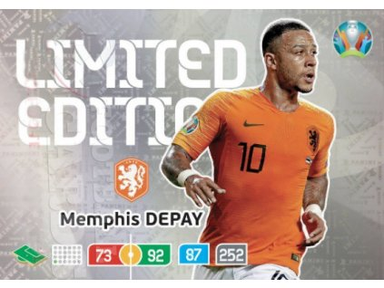 29849 karta euro 2020 limited edition memphis depay