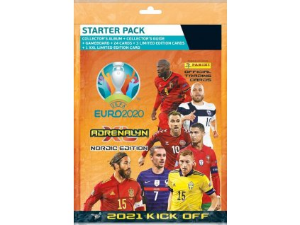 pan1576 panini adrenalyn xl euro 2020 starter set panini fotballkort 2021 kick off