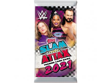 wwe slam attax 2021 trading cards 1 booster