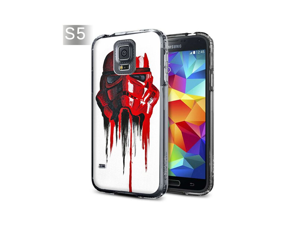 RED S5 R2D2 Star Wars Stormtrooper kryt Samsung Galaxy S5 i9600