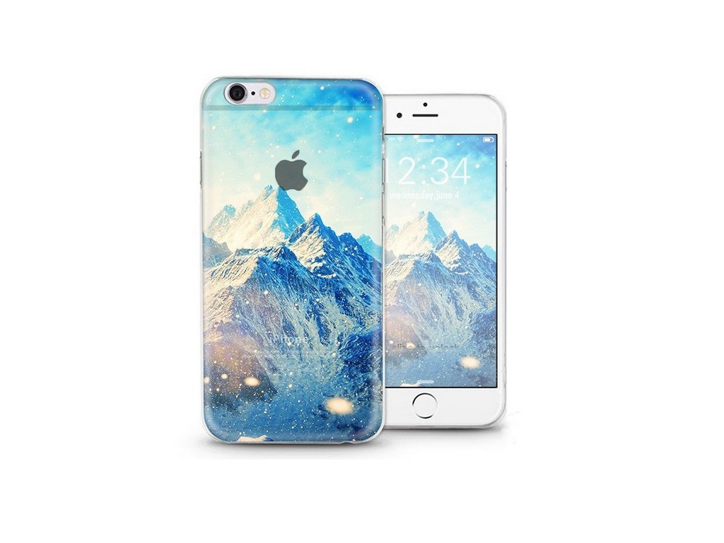 Gumový transparentní kryt pro Apple iPhone 6 6S - Mountains ... 4faf05edcf1
