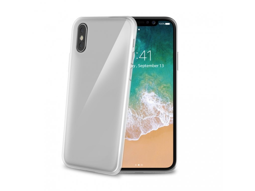 Gumový obal CELLY Gelskin pro Apple iPhone X, bezbarvý