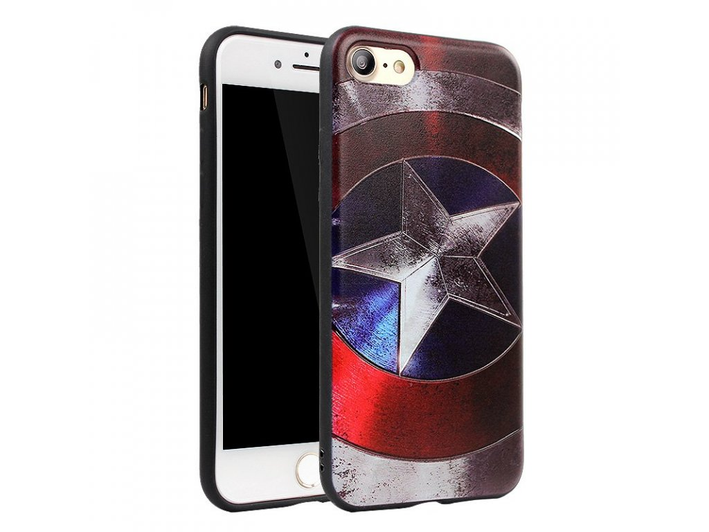 JAMULAR Superman Spiderman Captain America Silicone Phone Case for iPhone 7 6 6s 8 Plus X Style 1