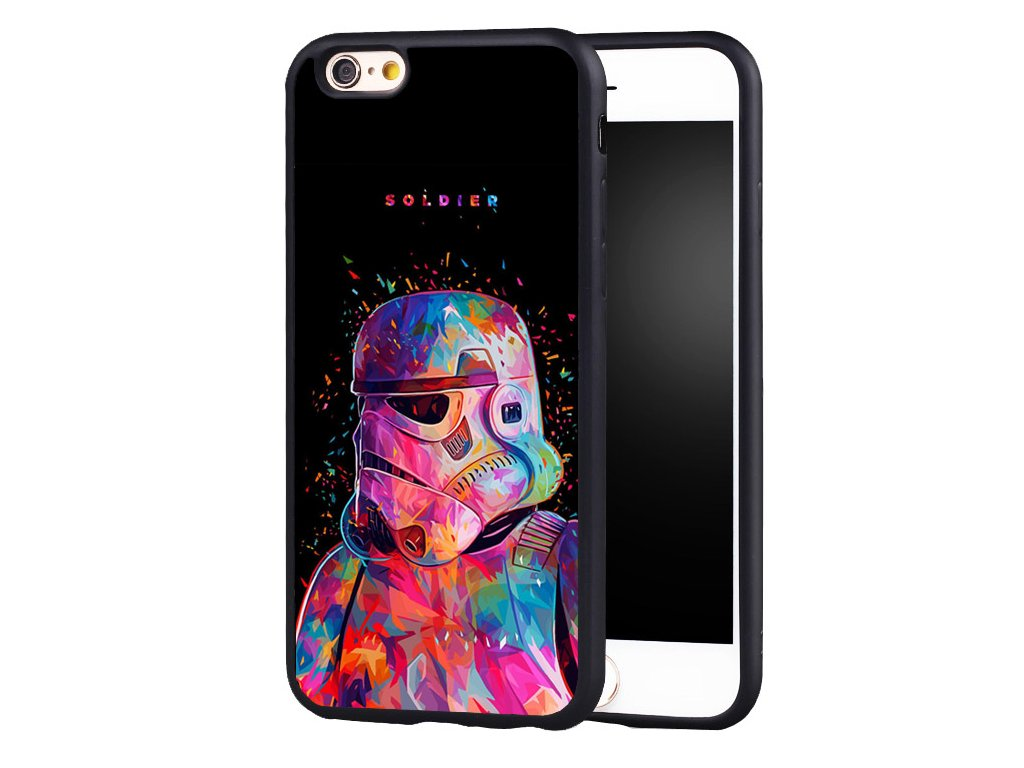 Stormtrooper (Star Wars) gumový kryt pro iPhone X/XS - Colorful