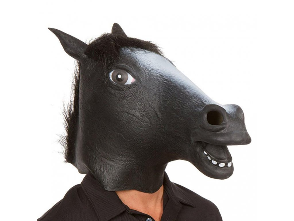 0 New Years Horse Head Mask Animal Costume n Toys Party Halloween 2018 New Year Decoration