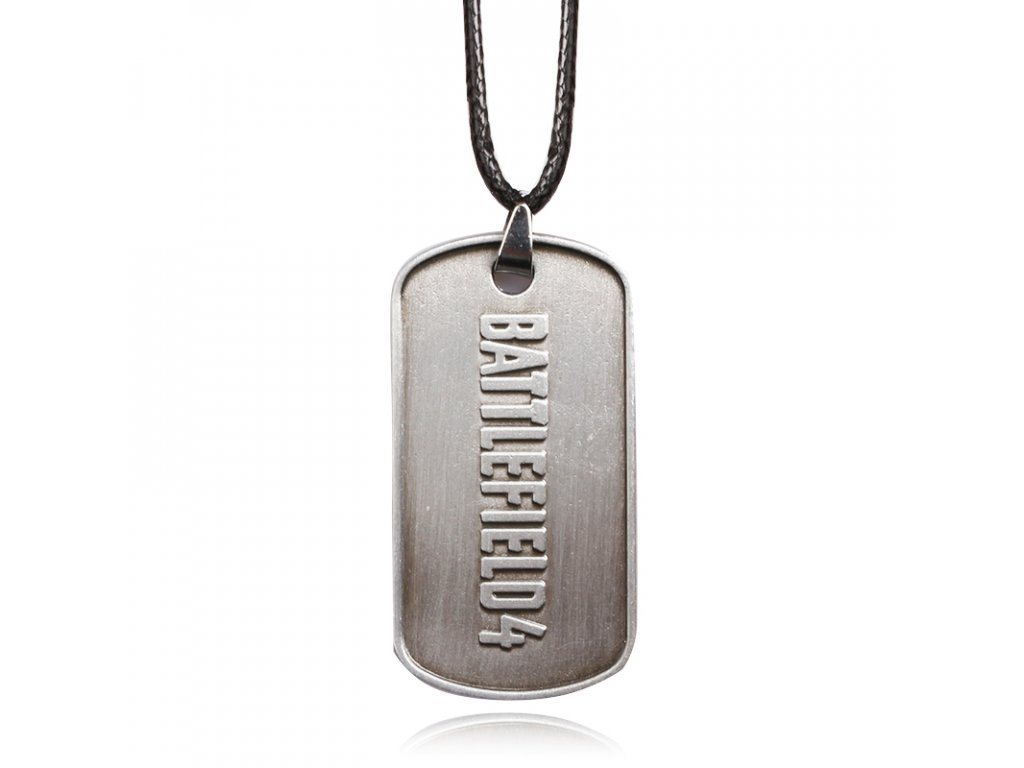 Fashion Jewelry BF4 Battlefield 4 Dog Tag badges Military Card Necklaces Pendants antique Bronze and Tin 6