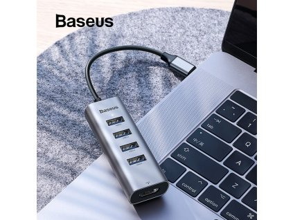 1 Baseus Multi USB C HUB to 3 0 USB HDMI Adapter for MacBook Pro Accessories Type