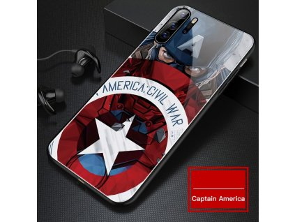 0 Marvel Captain America Glass Phone Case For Huawei P40 P30 P20 Lite P10 Mate 30 20