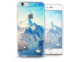Gumový transparentní kryt pro Apple iPhone 6/6S - Mountains