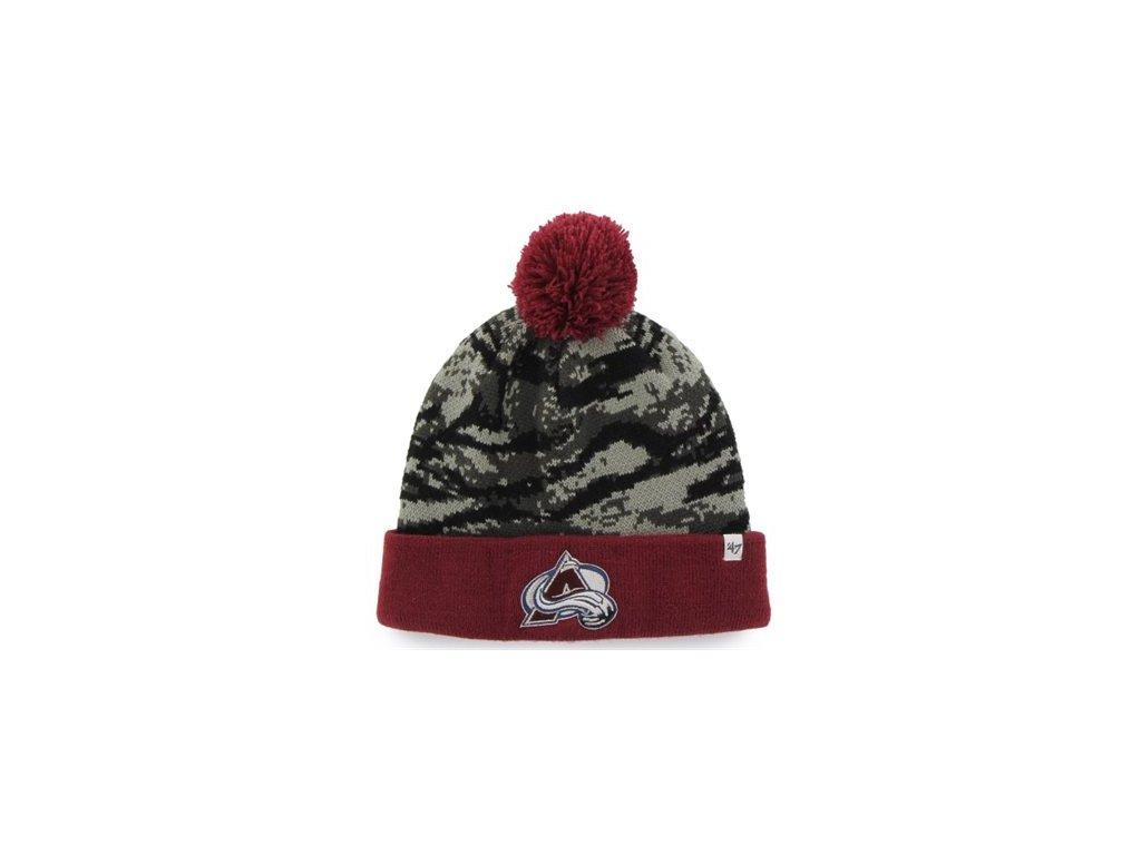 Zimní Čepice Colorado Avalanche '47 Brand Tigershade Camo