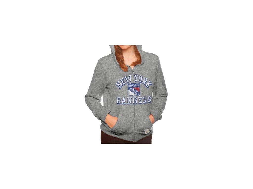 Dámská mikina New York Rangers Tri-Blend Full Zip