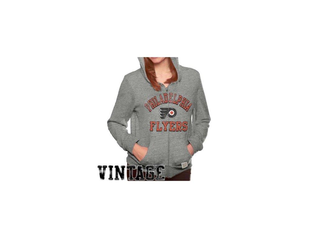 Dámská mikina Philadelphia Flyers Tri-Blend Full Zip