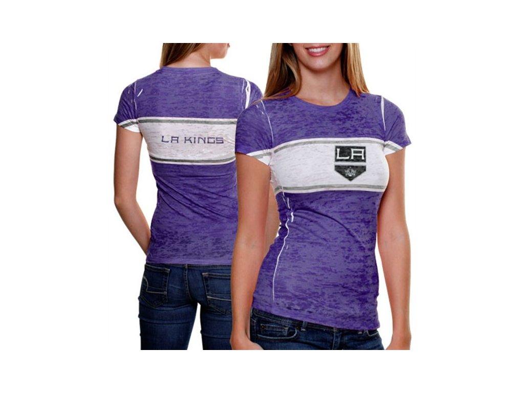 Dámské tričko - Big Stripe - Los Angeles Kings - modré