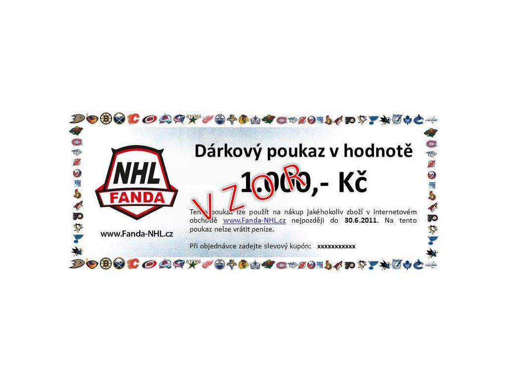 Dárkový poukaz Fanda-NHL.cz