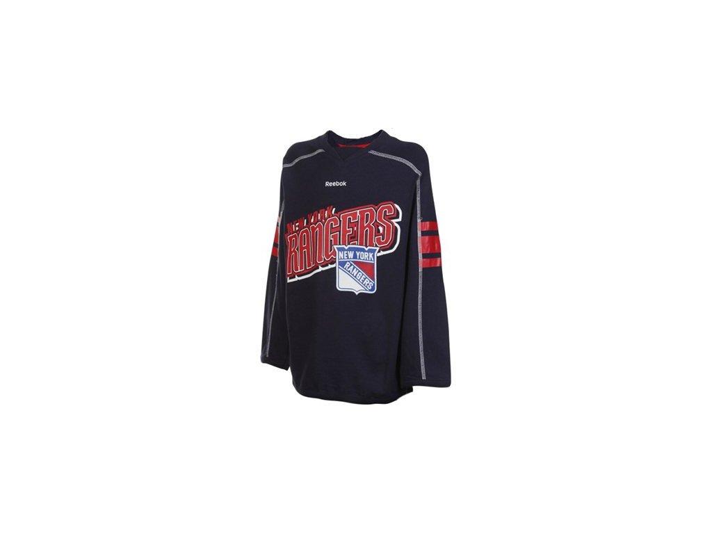 Dětské dívčí tričko New York Rangers Colorblocked - dlouhý rukáv