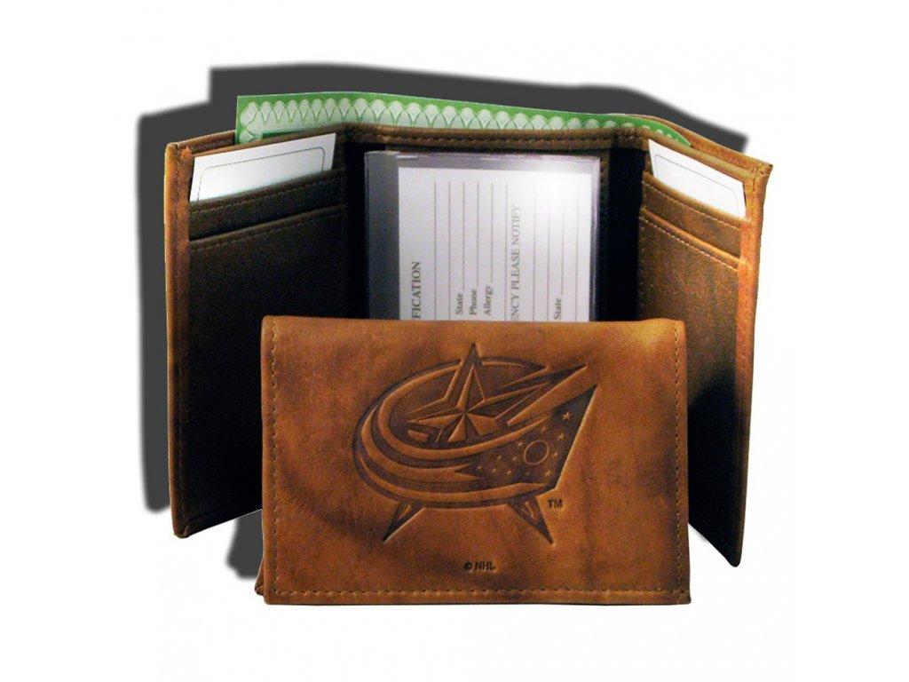 Kožená peněženka Columbus Blue Jackets Embossed Trifold
