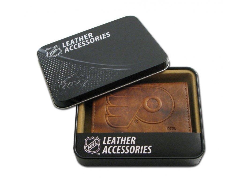 Kožená peněženka Philadelphia Flyers Embossed Trifold