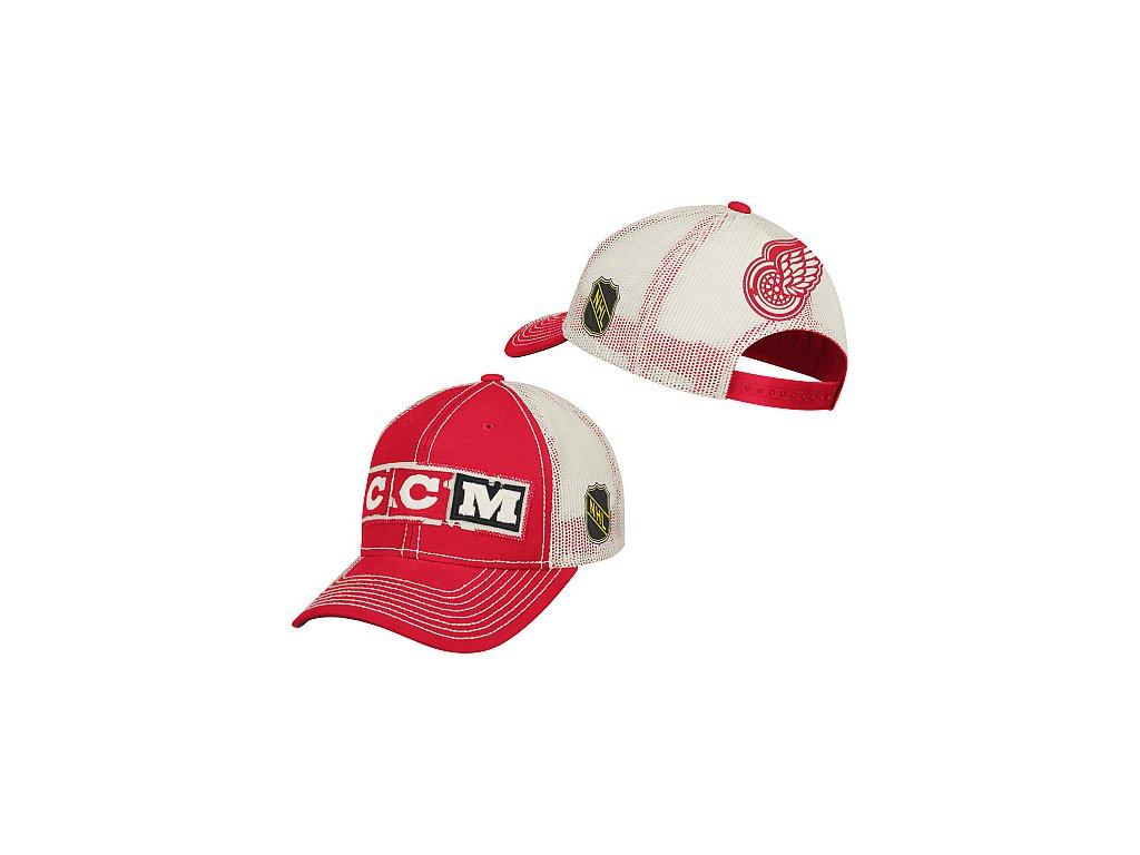 Kšiltovka - CCM Meshback Trucker - Detroit Red Wings
