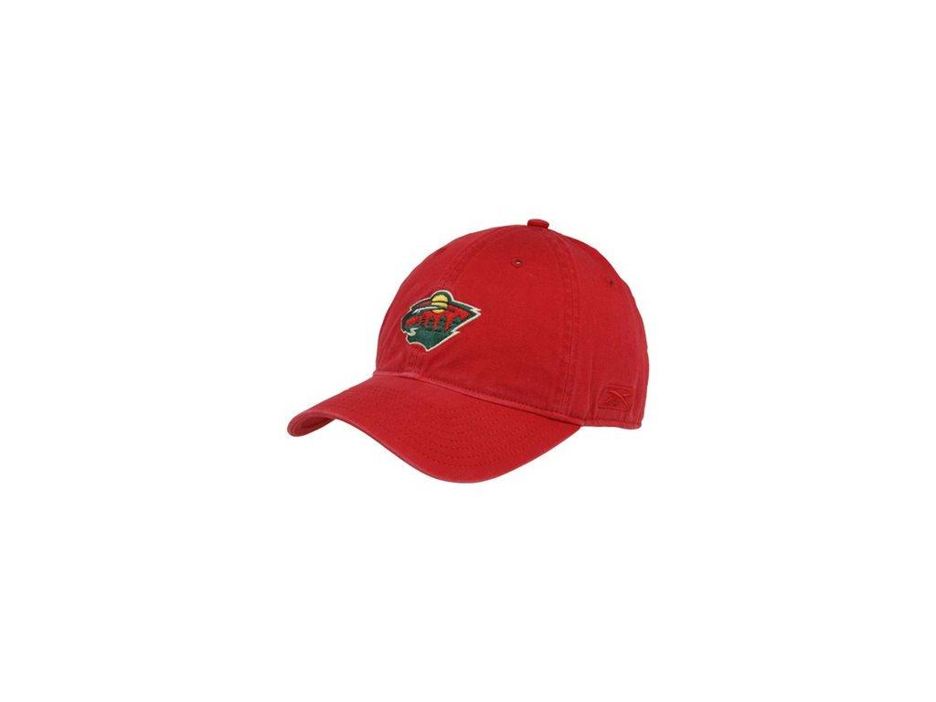 Kšiltovka -Basic logo Slouch - Minnesota Wild - červená