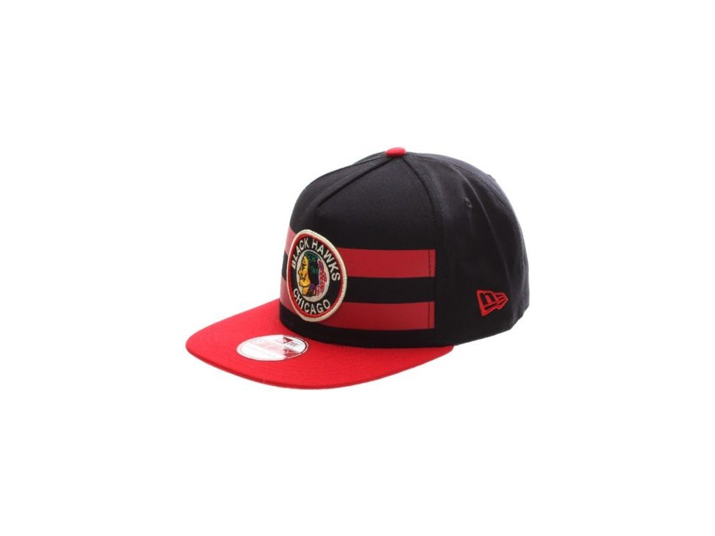 kšiltovka Chicago Blackhawks Double Stripe Snapback