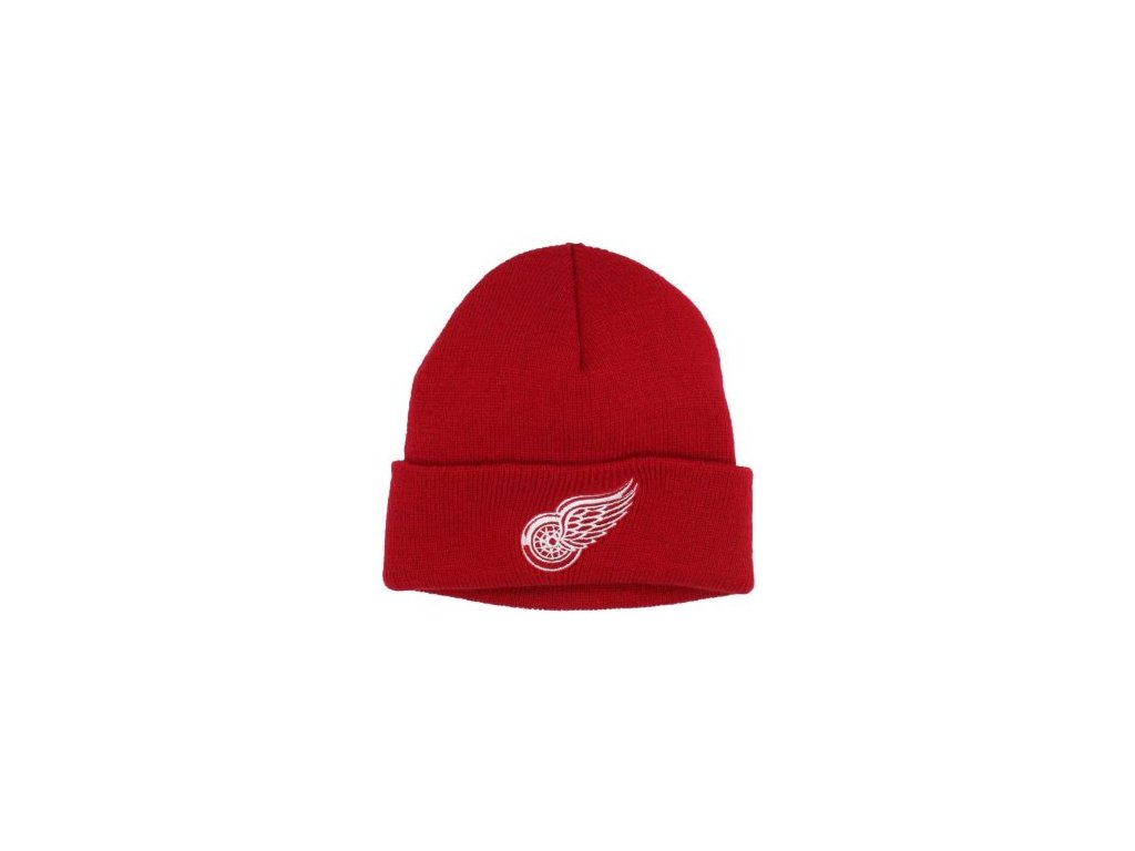 NHL čepice Detroit Red Wings Basic Logo Cuffed - dětská