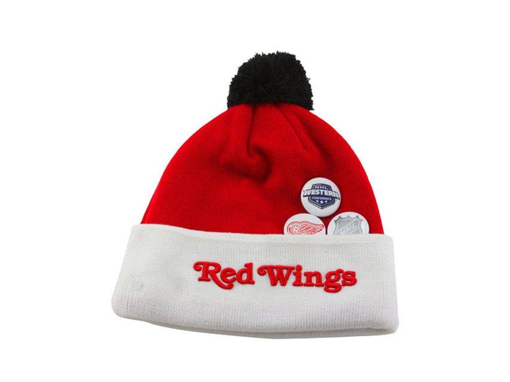 NHL čepice Detroit Red Wings Button Up