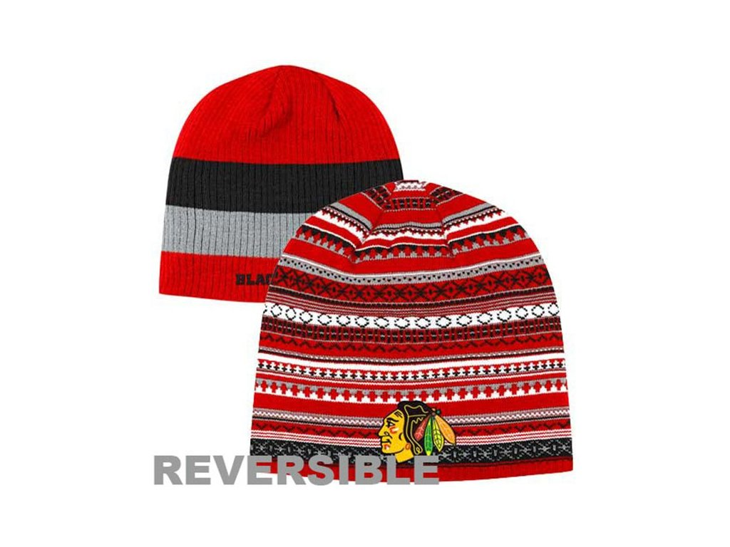 NHL čepice Chicago Blackhawks Faceoff Reversible
