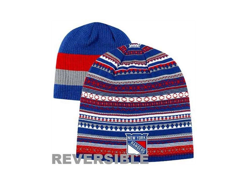 NHL čepice New York Rangers Faceoff Reversible