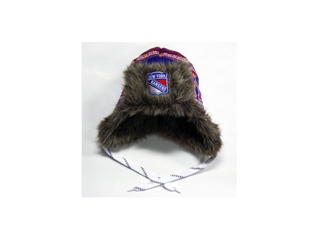 NHL čepice New York Rangers Fur Lined Trooper