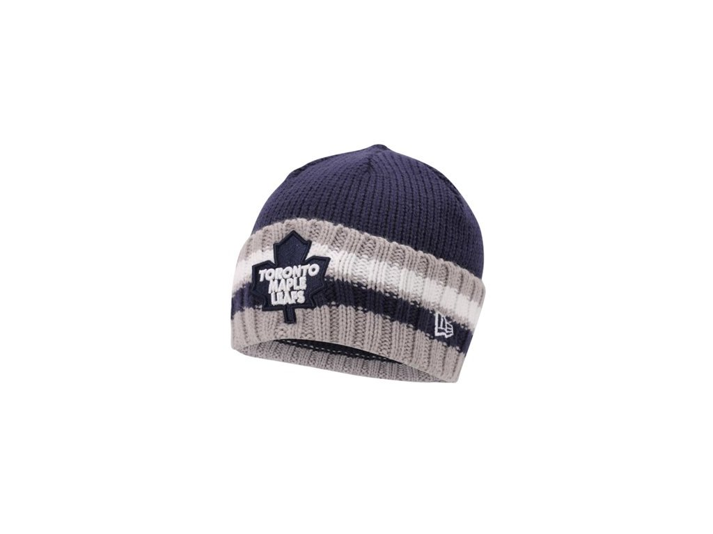NHL čepice Toronto Maple Leafs New Era Striper Beanie