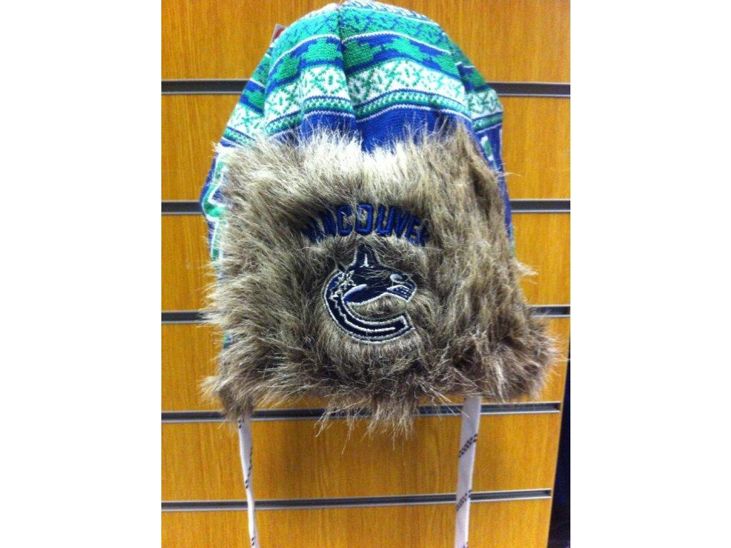 NHL čepice Vancouver Canucks Fur Lined Trooper
