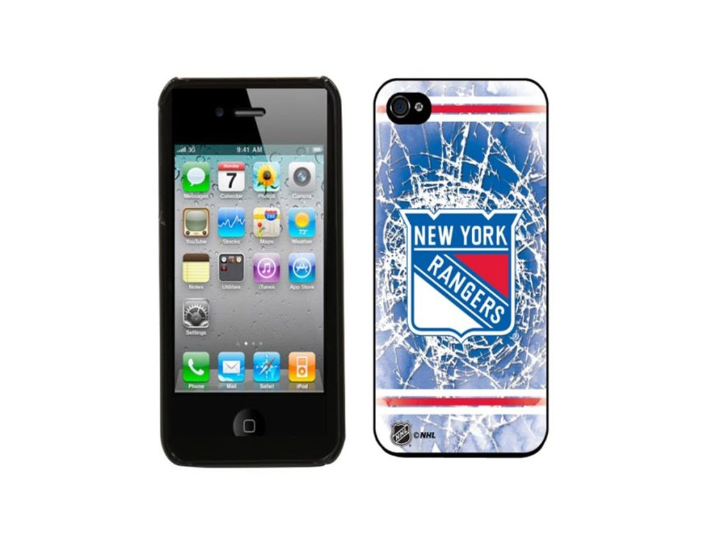 NHL kryt Iphone 4/4S New York Rangers Shattered