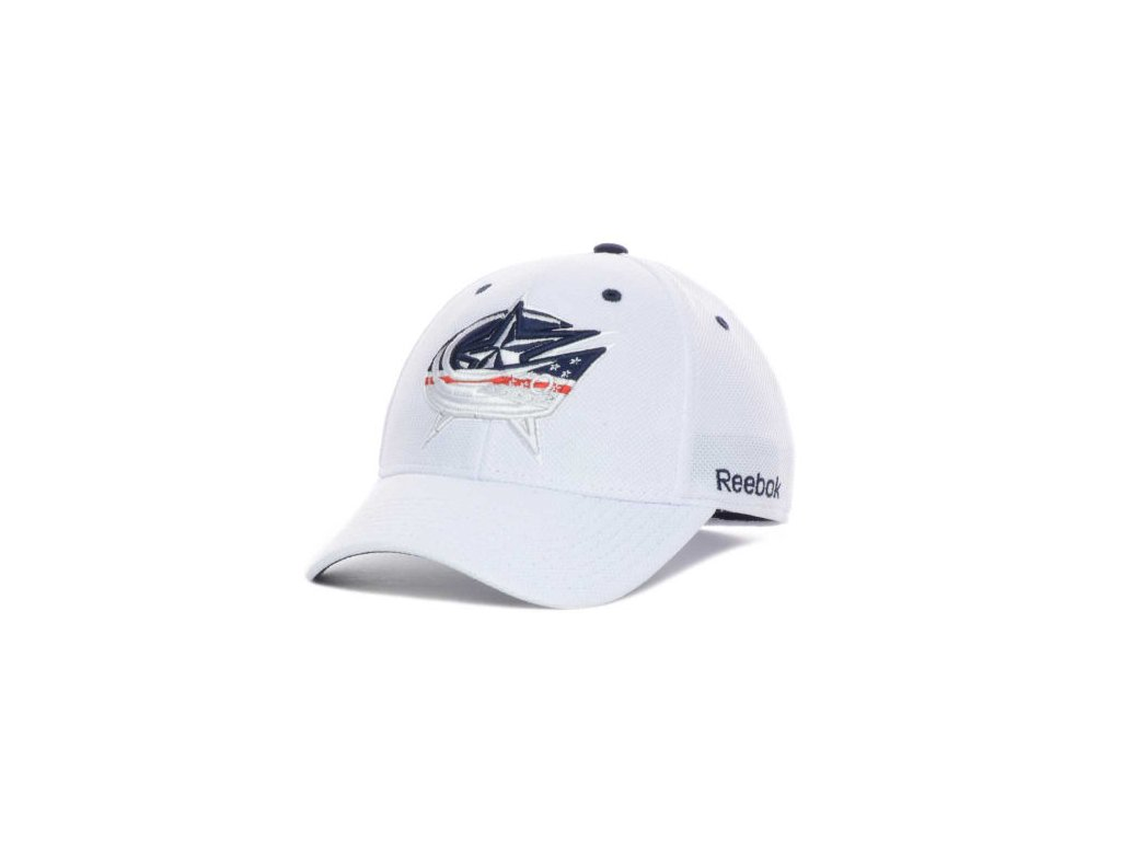 NHL Kšiltovka Columbus Blue Jackets White Out Flex