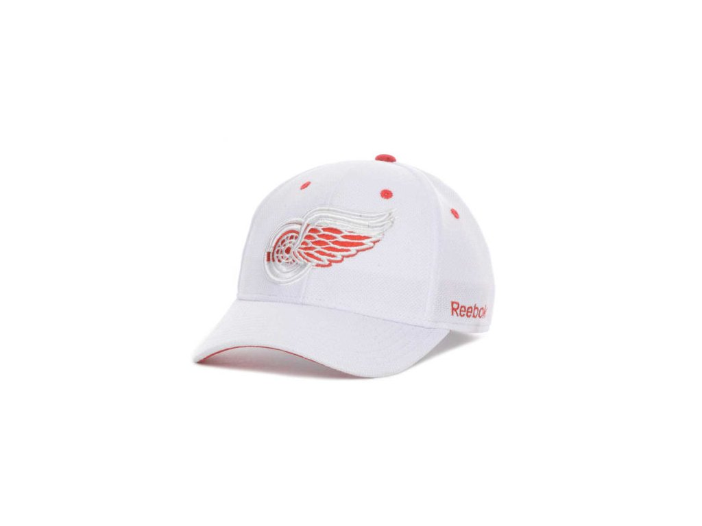 NHL Kšiltovka Detroit Red Wings White Out Flex