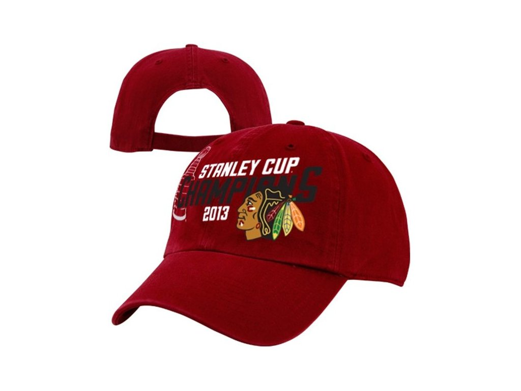 NHL Kšiltovka Chicago Blackhawks 2013 NHL Stanley Cup Champions Clean Up Slouch