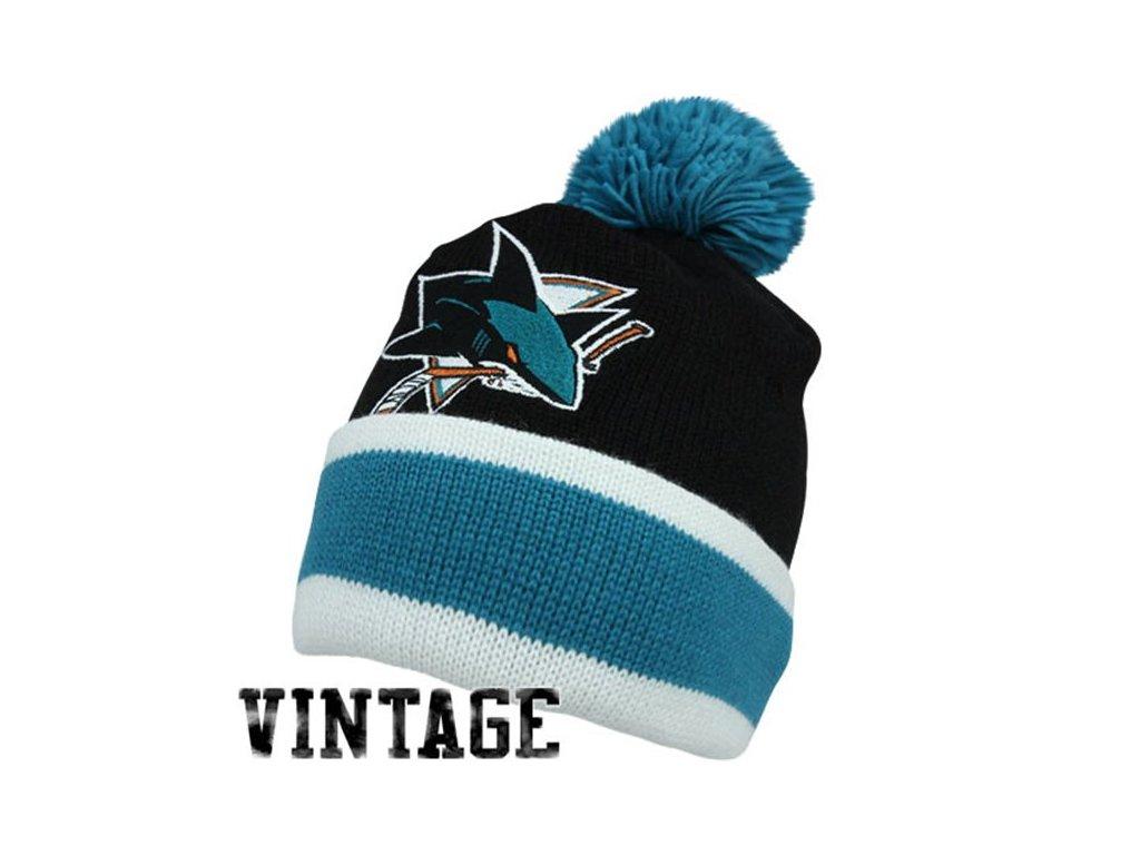 NHL kulich San Jose Sharks Vintage Jersey Stripe