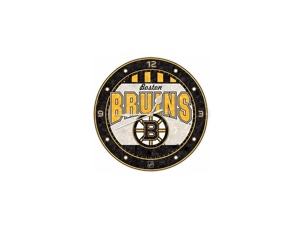 NHL nástěnné hodiny Boston Bruins Art Glass Wall