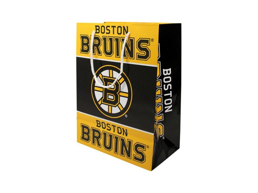 NHL papírová nákupní taška Boston Bruins