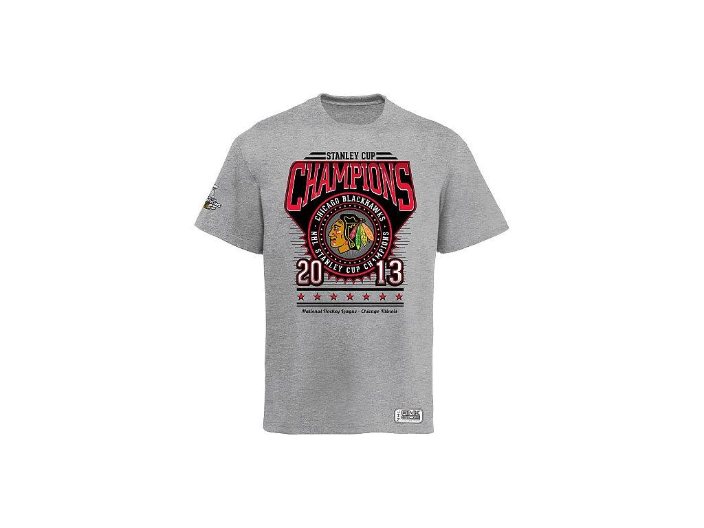 NHL Tričko Chicago Blackhawks 2013 Stanley Cup Champions Circle