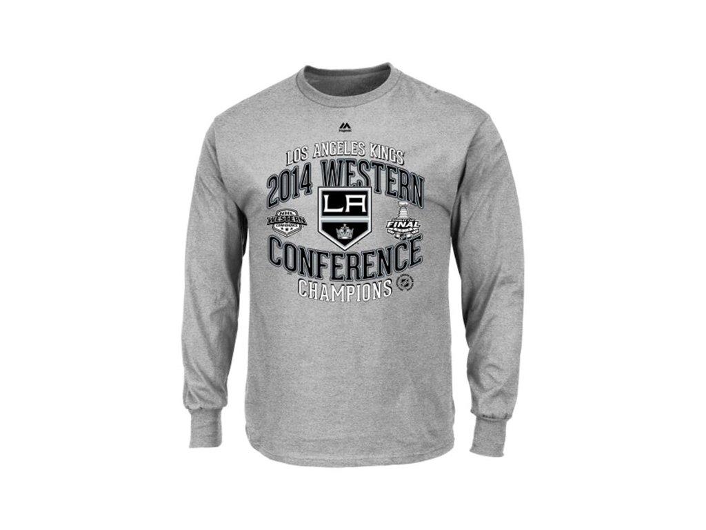 NHL tričko Los Angeles Kings 2014 Western Conference Champions Five Hole - dlouhý rukáv