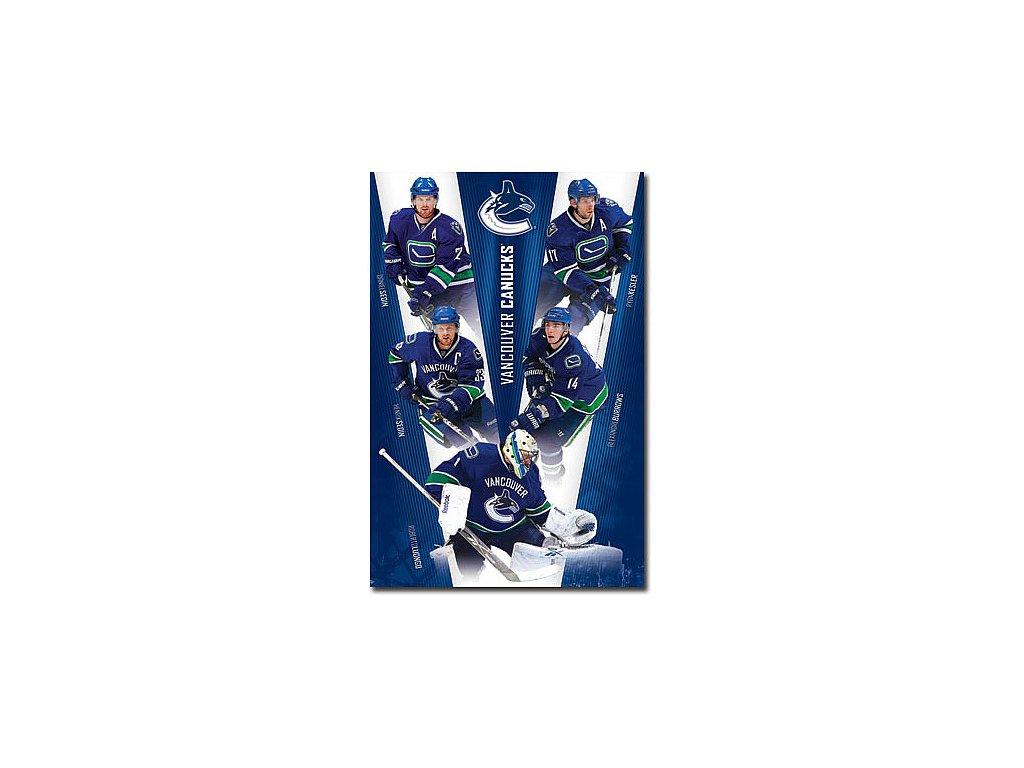 Plakát - Vancouver Canucks Team